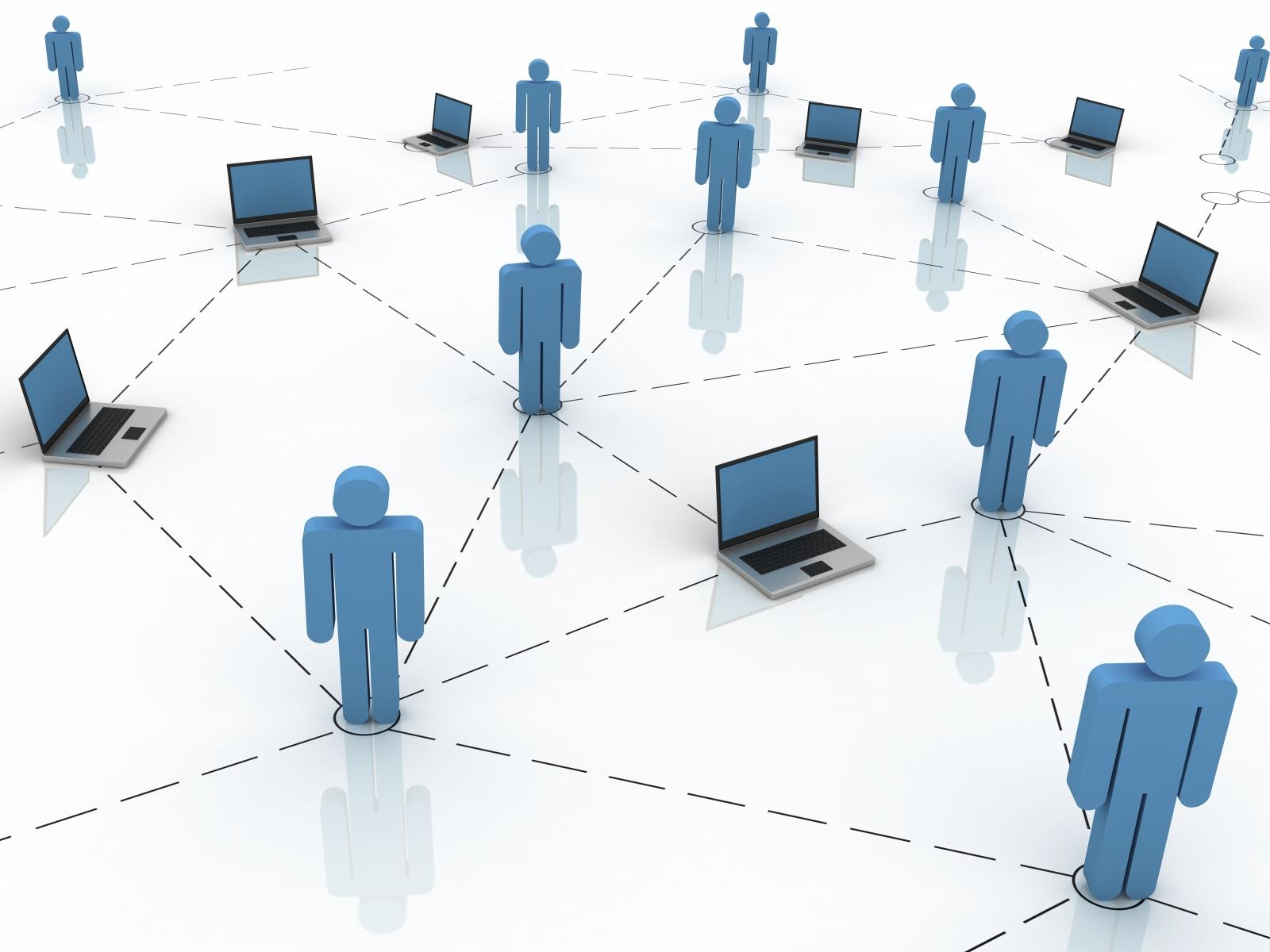 Esempio schematizzato di relazioni e intrecci sociali tipici di un Social netwok