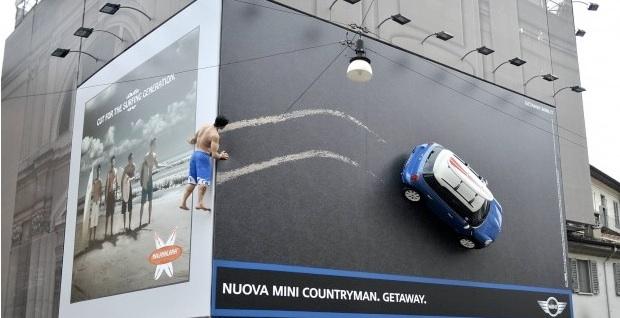 Cartellone pubblicitario Mini, Milano