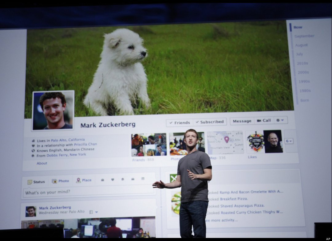 Mark Zuckerberg presenta Timeline, il nuovo layout di Facebook