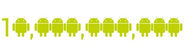 Android, 10 Miliardi di App scaricate dal Market. 2011